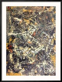 Untitled (1949) Reproduction encadrée par Jackson Pollock