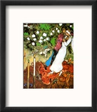 Three Candles Reproduction encadrée par Marc Chagall