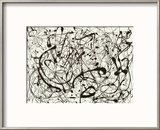 No. 14 (Gray) Reproduction encadrée par Jackson Pollock