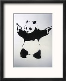 Pandamonium Reproduction encadrée par Banksy