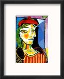 Girl with Red Beret Reproduction encadrée par Pablo Picasso