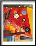 Heavy Red Reproduction encadrée par Wassily Kandinsky