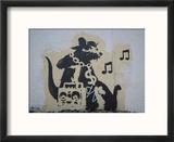 Ghetto Blaster Rat Reproduction encadrée par Banksy