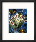 Still Life with Flowers Reproduction encadrée par Marc Chagall