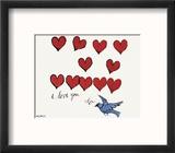 I Love You So, c. 1958 Reproduction encadrée par Andy Warhol