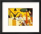 Terre Labouree, c.1923 Reproduction encadrée par Joan Miró