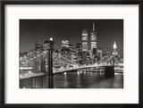 New York, New York, Brooklyn Bridge Reproduction encadrée par Henri Silberman