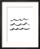 Black Waves Reproduction encadrée par Jetty Printables