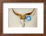 Ram's Head, Blue Morning Glory Reproduction encadrée par Georgia O'Keeffe