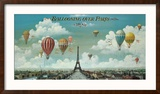 Ballooning Over Paris Reproduction encadrée par Isiah And Benjamin Lane