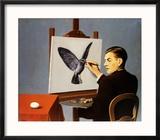 La Clairvoyance Reproduction encadrée par Rene Magritte
