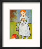 Child with a Dove, c.1901 Reproduction encadrée par Pablo Picasso