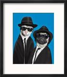 Brothers (Pets Rock) Reproduction encadrée par Takkoda