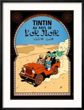 Tintin au Pays de l'Or Noir, c.1950 Reproduction encadrée par Hergé (Georges Rémi)