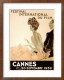 Festival International du Film, Cannes, 1939 Reproduction giclée encadrée par Jean-Gabriel Domergue