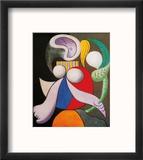 Femme a La Fleur, c.1932 Reproduction encadrée par Pablo Picasso