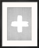 Cross On Grey Reproduction encadrée par LILA X LOLA