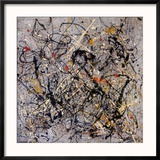 Number 18, 1950 Reproduction encadrée par Jackson Pollock