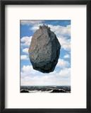 Le Chateau des Pyrennees Reproduction encadrée par Rene Magritte