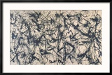 Number 32, 1950 Reproduction encadrée par Jackson Pollock