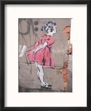 Kiss Reproduction encadrée par Banksy