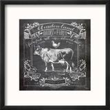Chalkboard Cow Reproduction encadrée par Washburn Lynnea