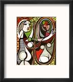 Girl Before a Mirror, c.1932 Reproduction encadrée par Pablo Picasso
