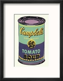 Campbell's Soup Can, 1965 (Green and Purple) Reproduction encadrée par Andy Warhol