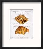 Pain au Chocolat et Croissant Reproduction encadrée par Ginny Joyner