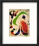 Night Reproduction encadrée par Joan Miró