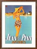 Juan Les Pins Reproduction encadrée par Robert Falcucci