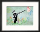 Gun Reproduction encadrée par Banksy