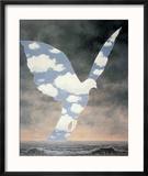 La Grande Famille Reproduction encadrée par Rene Magritte