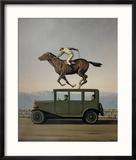 La Colere des Dieux Reproduction encadrée par Rene Magritte