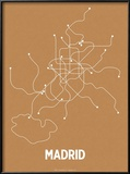 Madrid (Orange & Pearl White) Reproduction encadrée par LinePosters