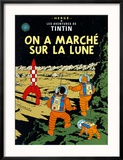 On a Marché sur la Lune, c.1954 Reproduction encadrée par Hergé (Georges Rémi)