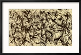 No. 32, c.1950 Reproduction encadrée par Jackson Pollock