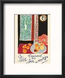 Nice, France - Travail et Joie (Work and Joy) - Still Life with Pomegranates Reproduction encadrée par Henri Matisse