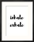 Inhale Exhale Reproduction encadrée par Pop Monica