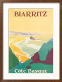 Biarritz Reproduction encadrée par Debo