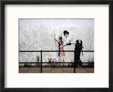 Stop and search Reproduction encadrée par Banksy