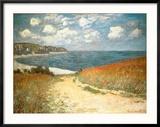 Path Through the Corn at Pourville, c.1882 Reproduction encadrée par Claude Monet
