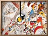 Bustling Aquarelle, c.1923 Reproduction encadrée par Wassily Kandinsky