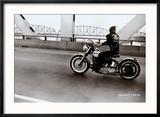 Crossing the Ohio River Reproduction encadrée par Danny Lyon