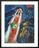 La Mariee Reproduction encadrée par Marc Chagall