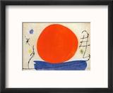 The Red Sun Reproduction encadrée par Joan Miró