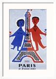 1951, Paris a 2.000 Ans Reproduction giclée encadrée par Raymond Savignac