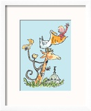 The Giraffe and the Pelly and Me Reproduction encadrée par Quentin Blake