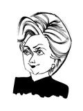 Hillary Clinton - Cartoon