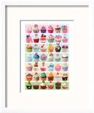 Cupcakes Celebration Reproduction encadrée